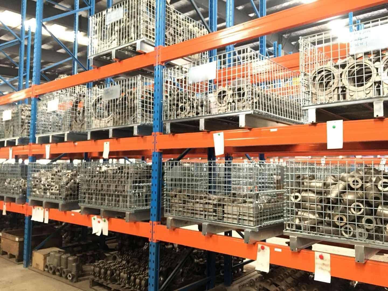 南京溧水某机械加工出口企业上货架仓储笼
